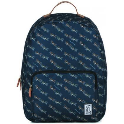 The Pack Society Classic Backpack Dark Blue Wolf Allover Kék Unisex Hátizsák