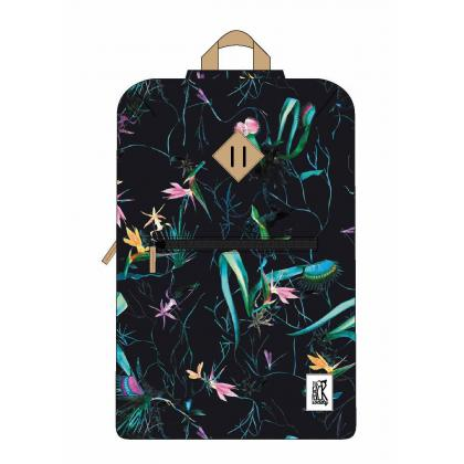 The Pack Society Double Backpack Dark Blue Jungle Allover Sötét kék Unisex Hátizsák