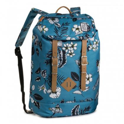 The Pack Society Premium Backpack Blue flower Világos kék Hátizsák
