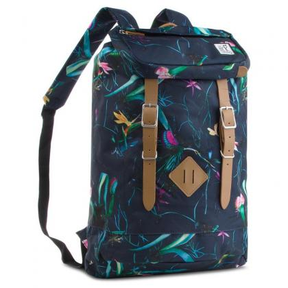 The Pack Society Premium Backpack Dark Blue Jungle Allover Sötét kék Női Hátizsák