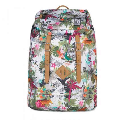 The Pack Society Premium Backpack Multicolor Jungle Allover Mintás Női Hátizsák