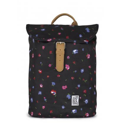 The Pack Society Small Backpack Black flower Fekete Hátizsák