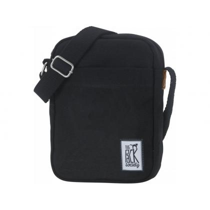 The Pack Society Small Shoulder Bag Solid Black Fekete Unisex Oldaltáska