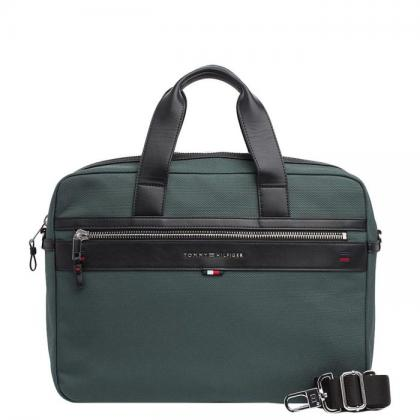 Tommy Hilfiger Elevated Computer Bag Zöld Férfi Laptop Táska