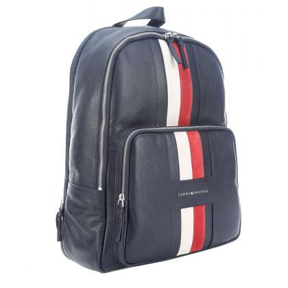 Tommy Hilfiger Heritage Leather Backpack Kék Férfi Hátizsák