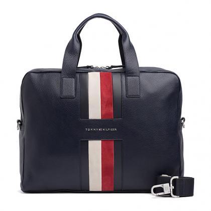 Tommy Hilfiger Heritage Leather Kék Férfi Laptop táska