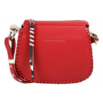 Tommy Hilfiger Stitch Leather Piros Női Oldaltáska