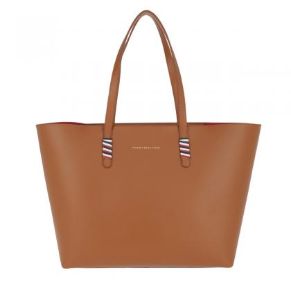 Tommy Hilfiger Stitch Leather Tote Barna Női Divattáska
