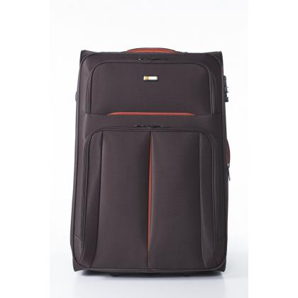 Touareg 6114 L Barna Unisex Puhafedeles bőrönd