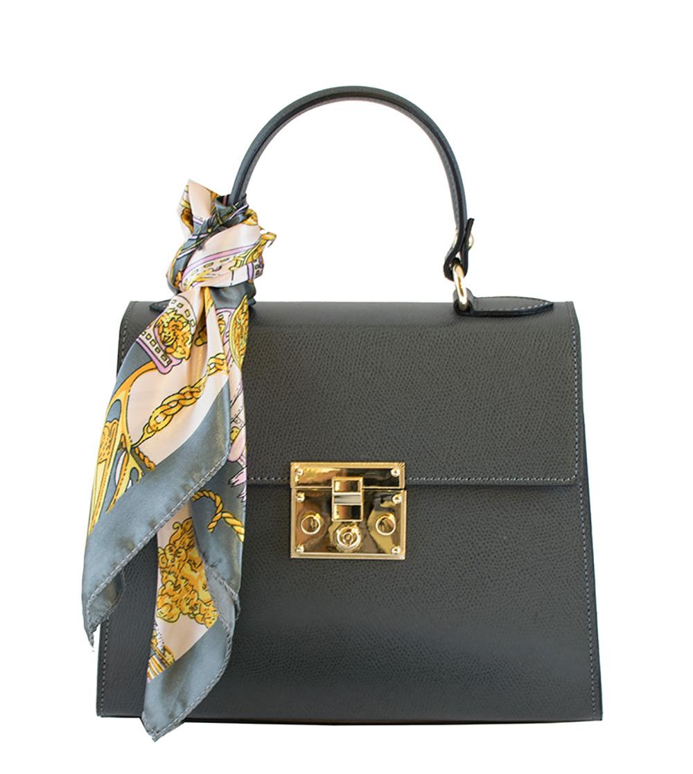 Bags and more Anett Szürke Női Bőr Kézitáska