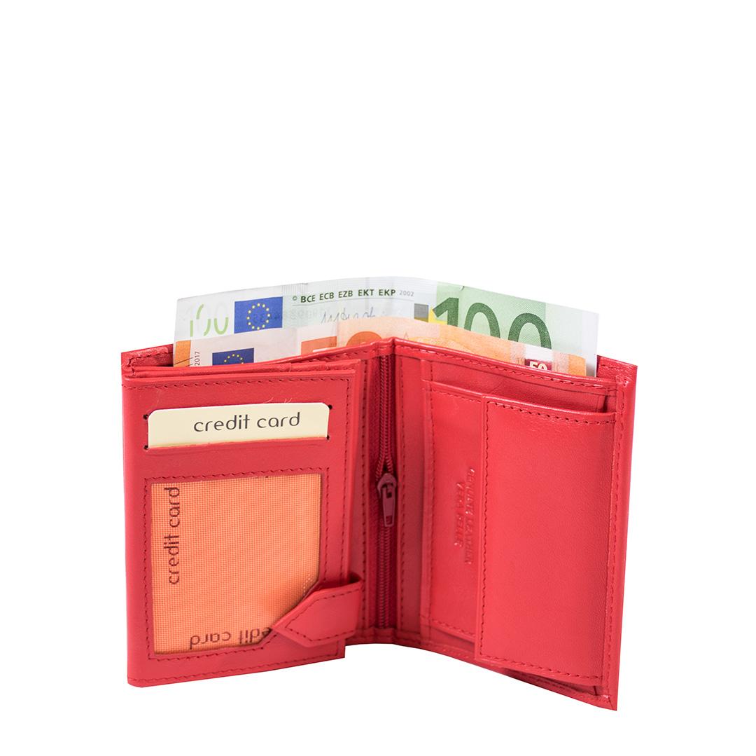 Bags and more Annuziata Piros Unisex Pénztárca