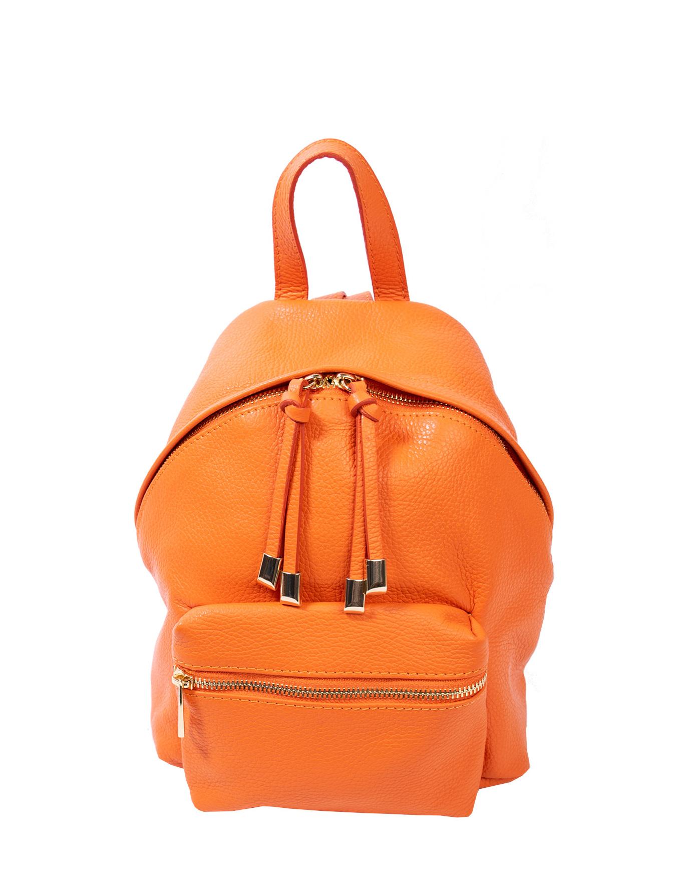 Bags and more April Narancssárga Női Bőr Hátizsák