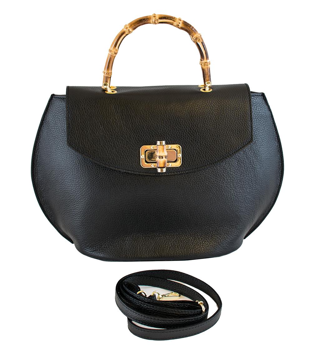 Bags and more Ciana Fekete Női Bőr Kézitáska
