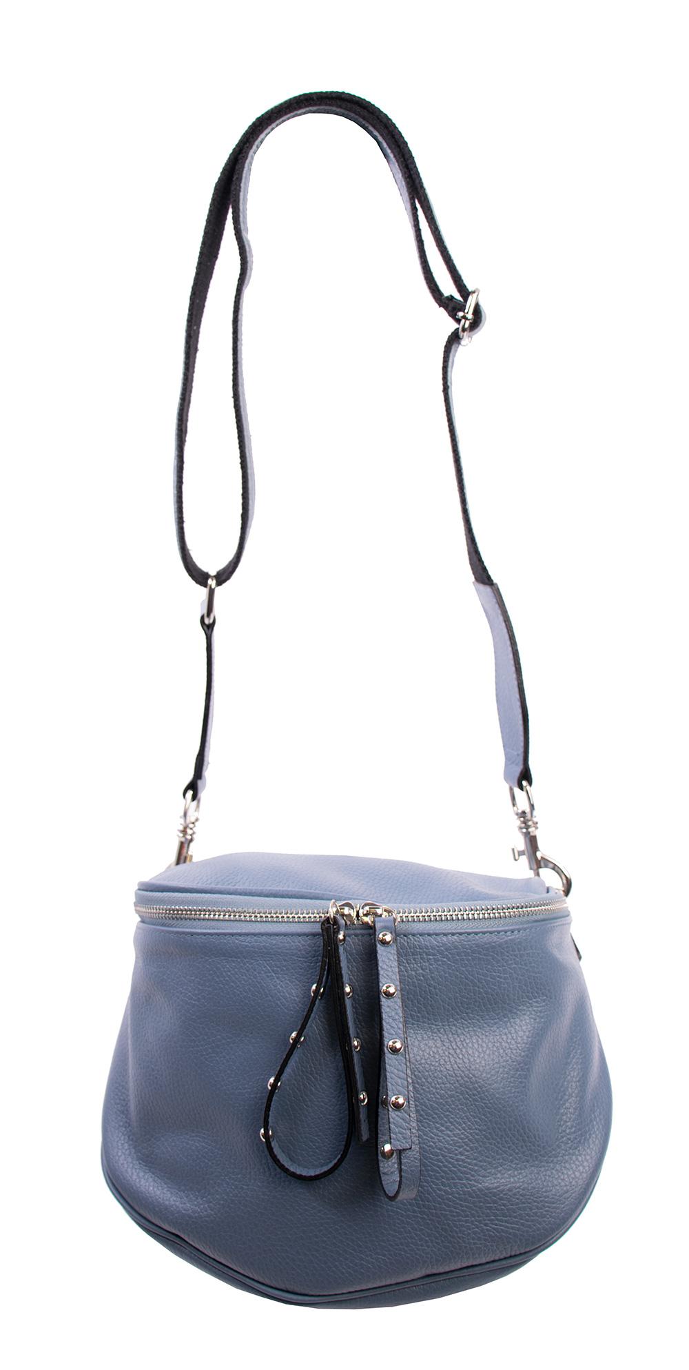 da58148006e1 Bags and More Claire Világos kék Női Bőr Oldaltáska | bagsnmore.hu