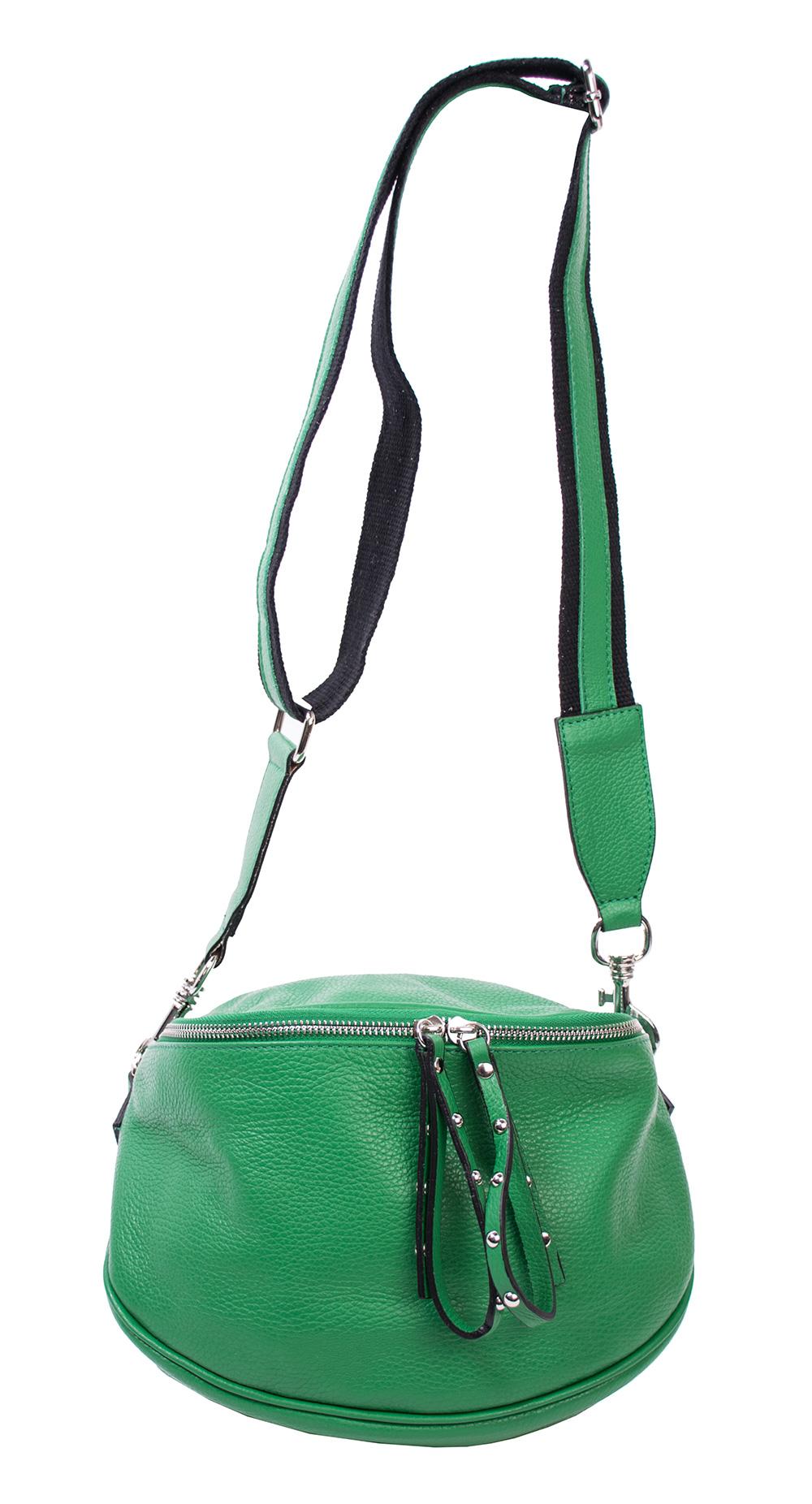 Bags and More Claire Zöld Női Bőr Oldaltáska