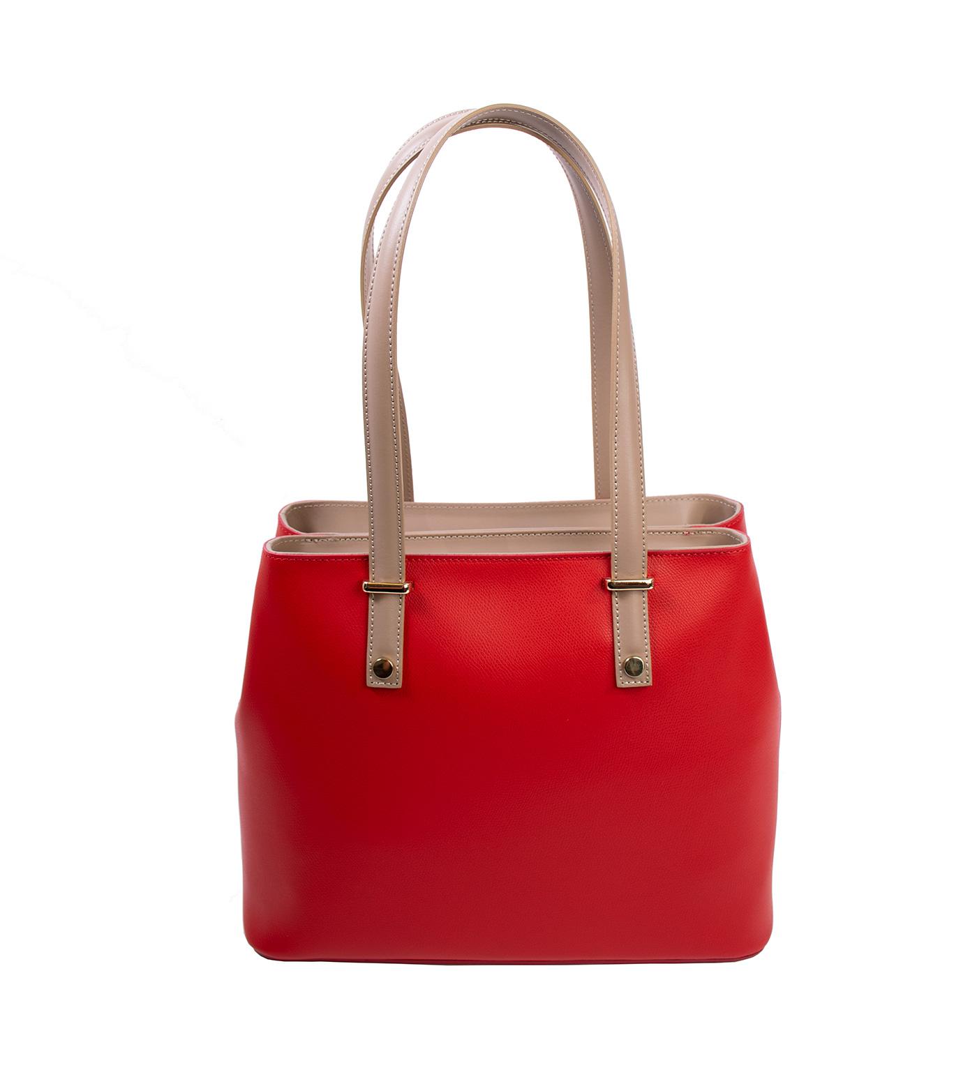 Bags and more Donnylyn Piros Női Bőr Válltáska