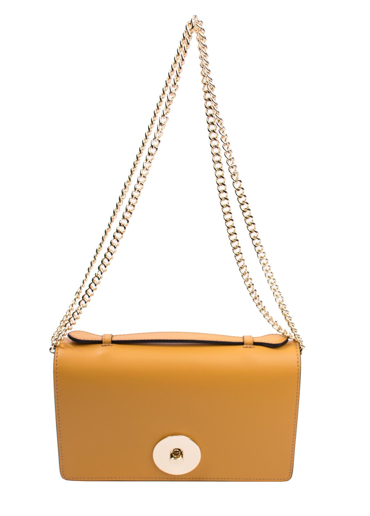 Bags and more Florenza Ősz sárga Női Bőr Oldaltáska