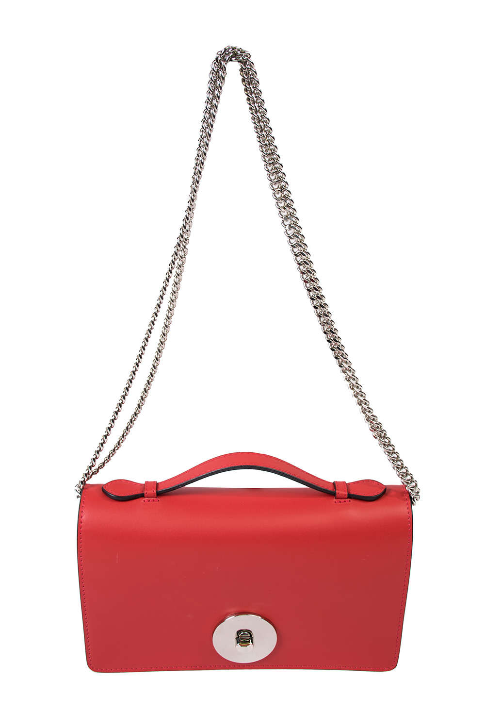 Bags and more Florenza Piros Női Bőr Oldaltáska