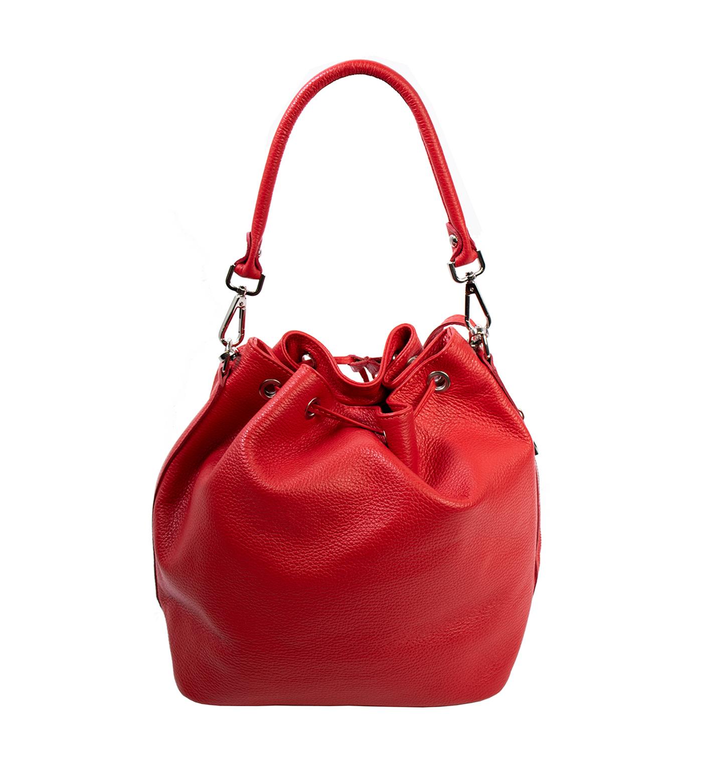 Bags and more Gemma Piros Női Bőr Kézi és Válltáska