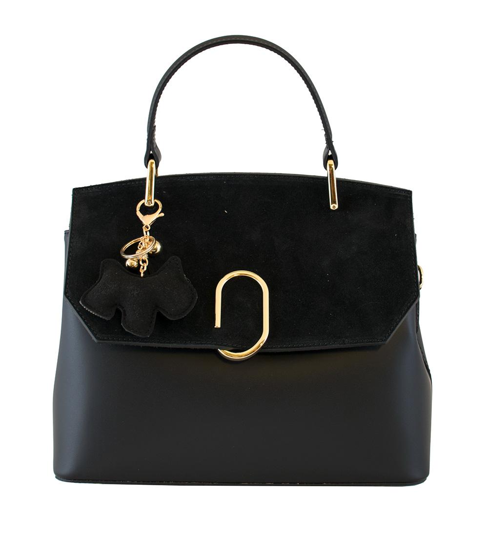 Bags and more Gratia Fekete Női Bőr Kézitáska