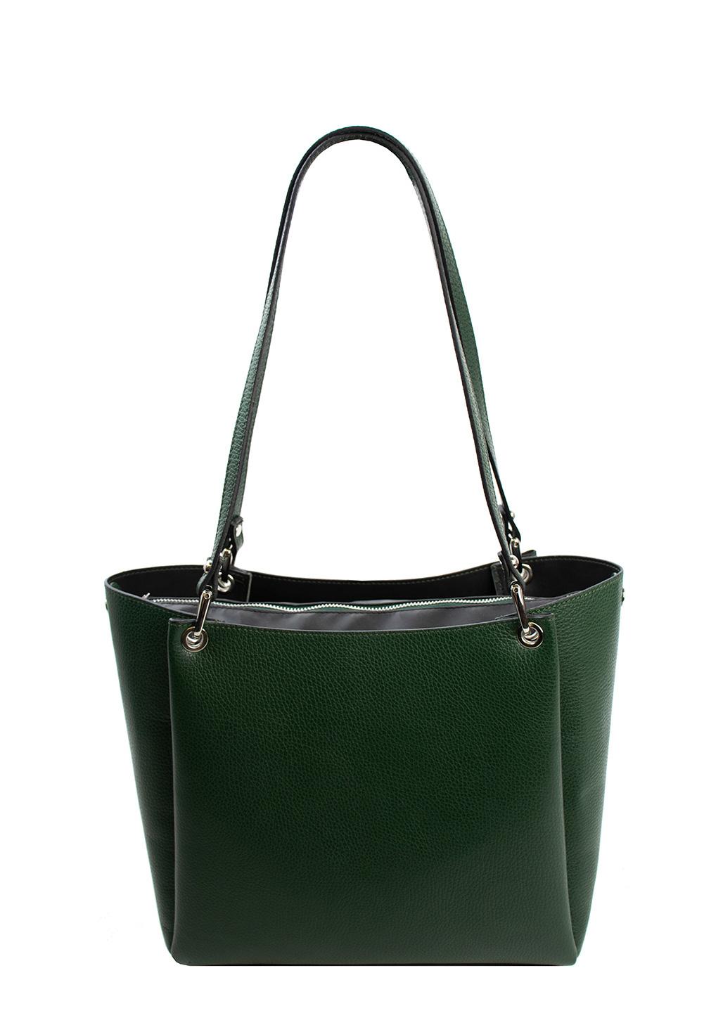 Bags and more Letizia Zöld Női Bőr Válltáska