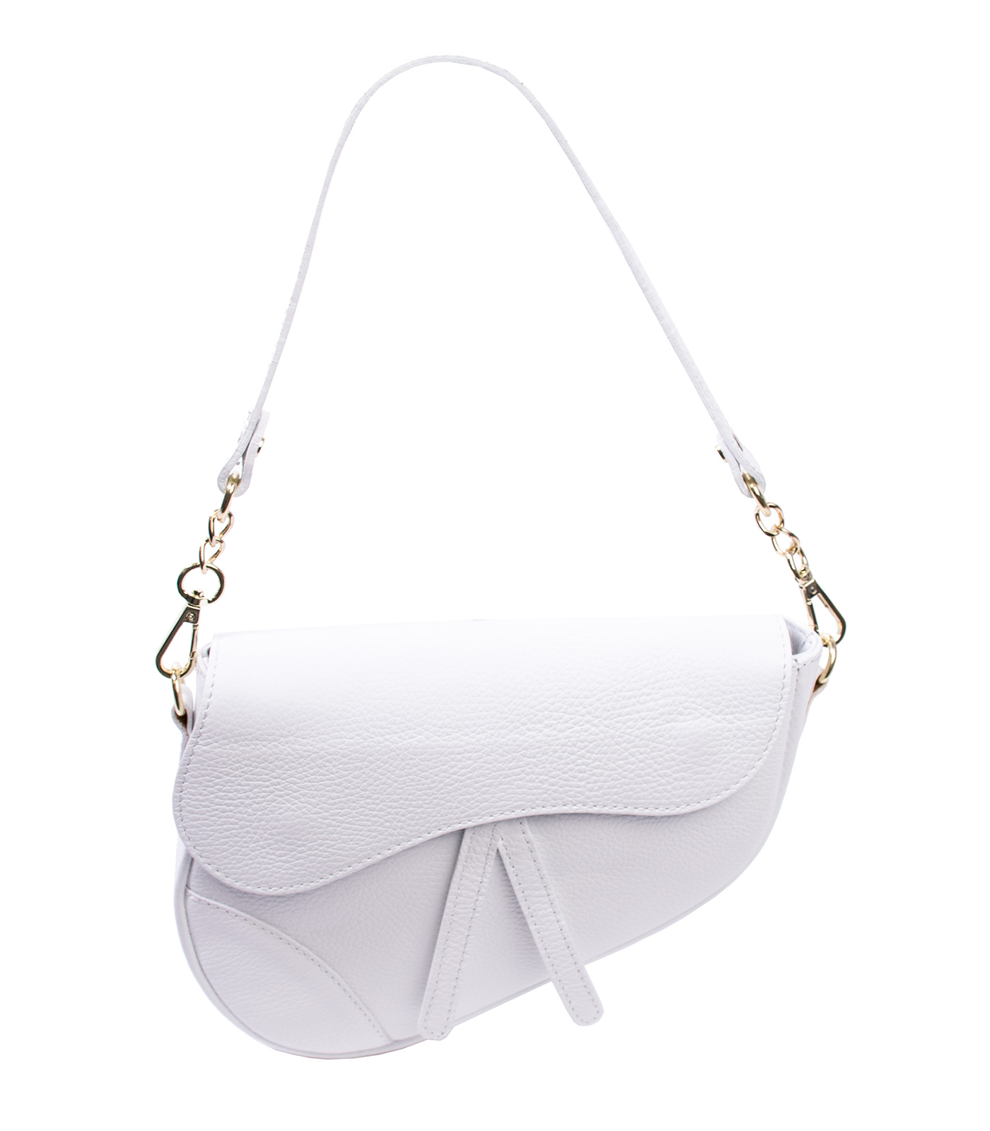 Bags and More Linda Fehér Női Bőr Válltáska