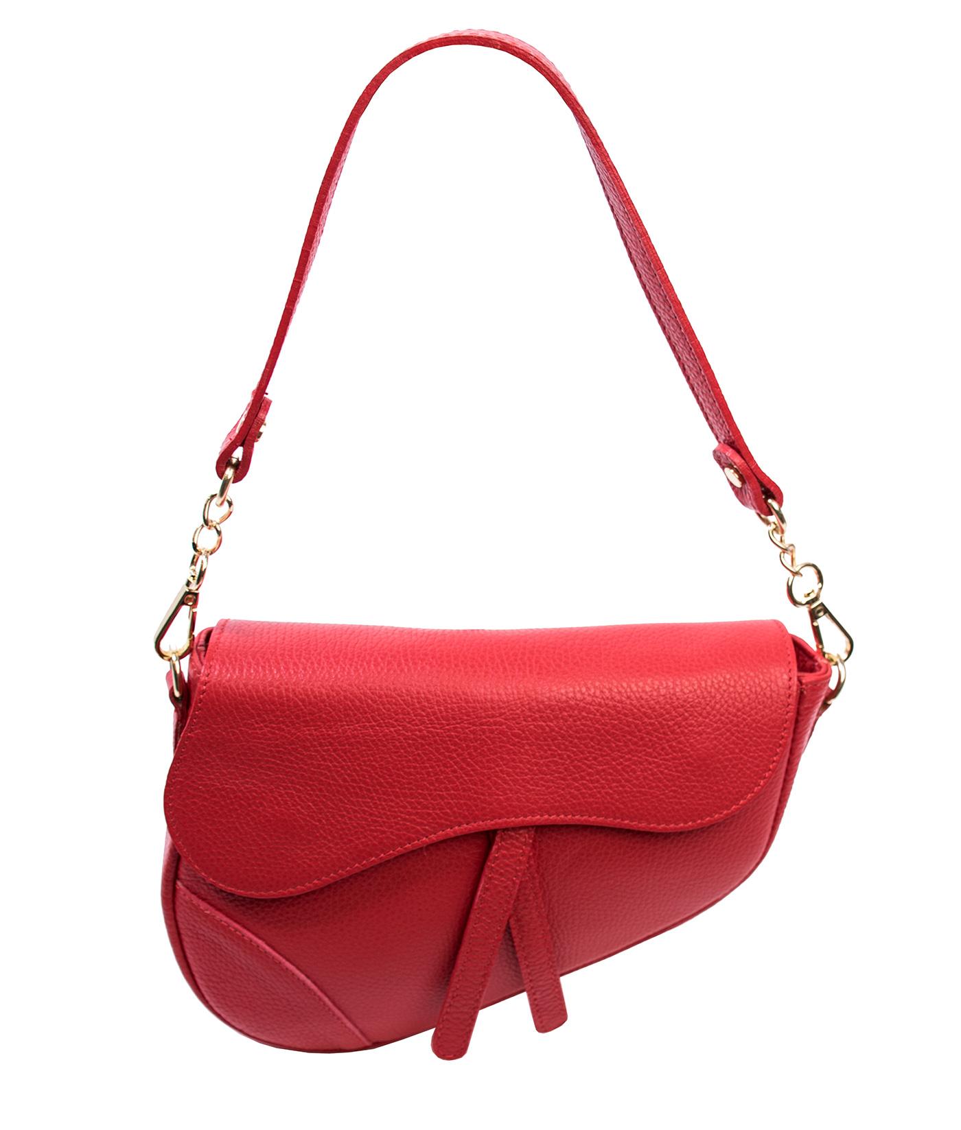 Bags and More Linda Piros Női Bőr Válltáska