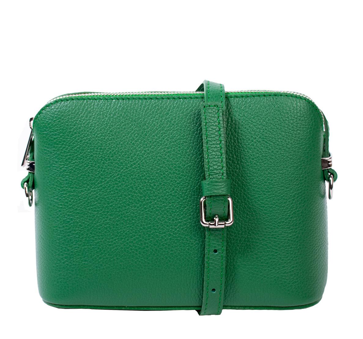 Bags and more Milla Zöld Női Bőr Oldaltáska