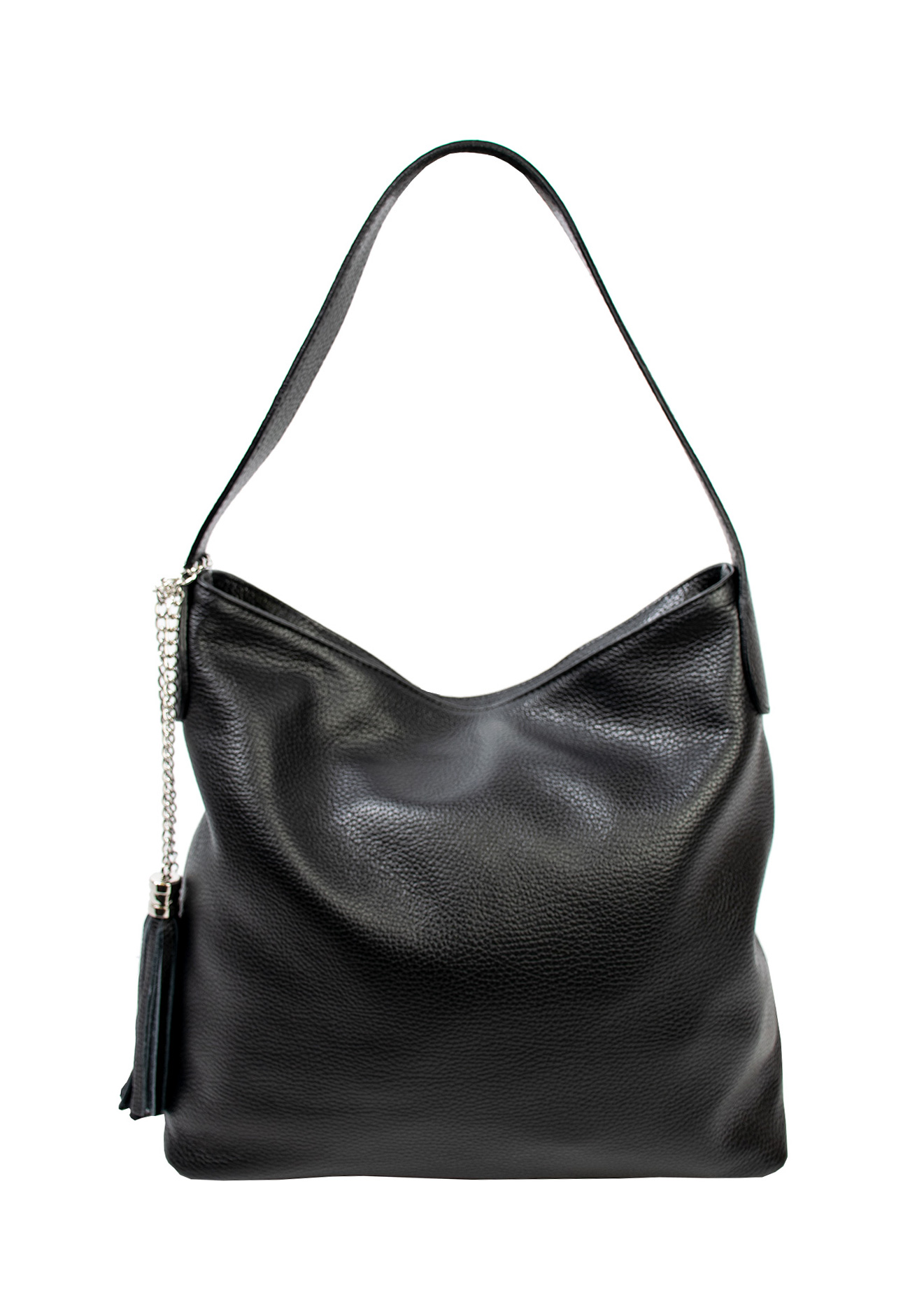 Bags and more Morella Fekete Női Bőr Válltáska