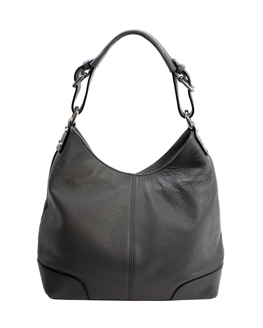 Bags and more Natale Szürke Női Bőr Válltáska
