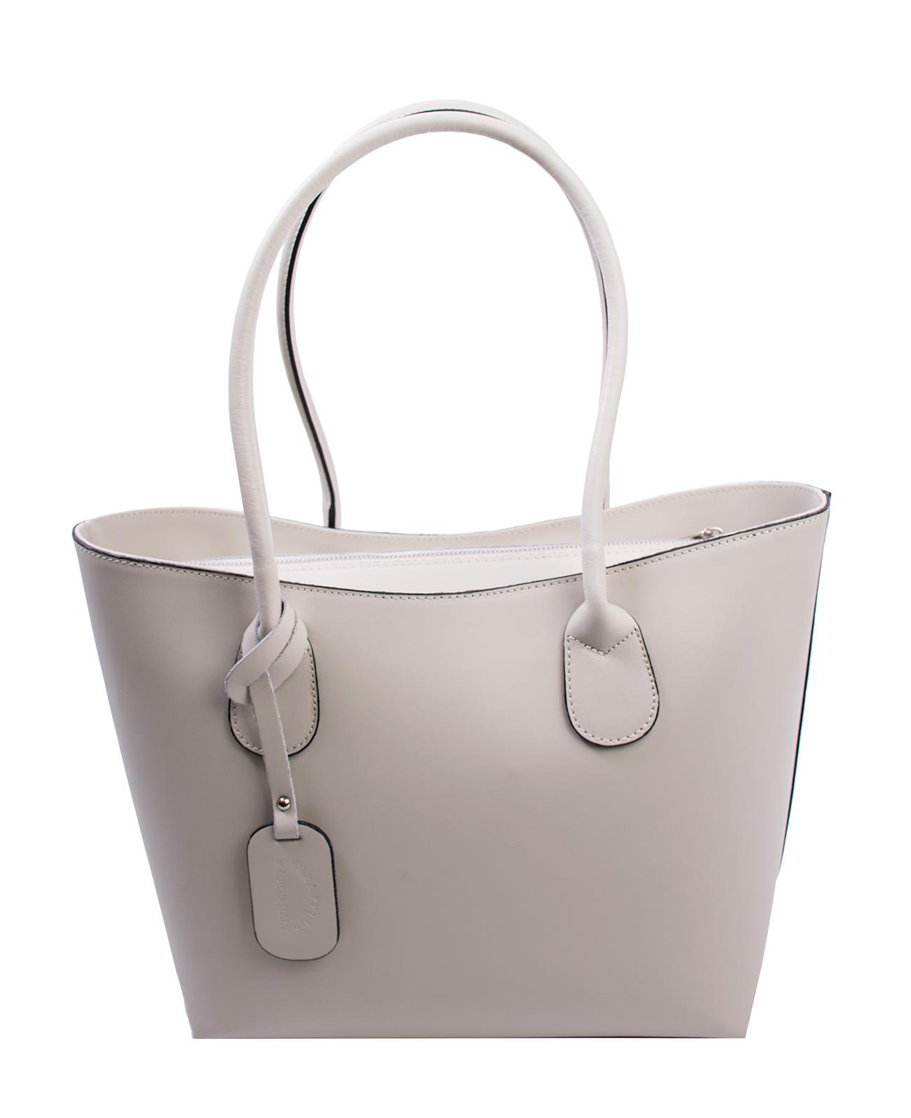 Bags and more Odett Bézs Női Bőr Válltáska