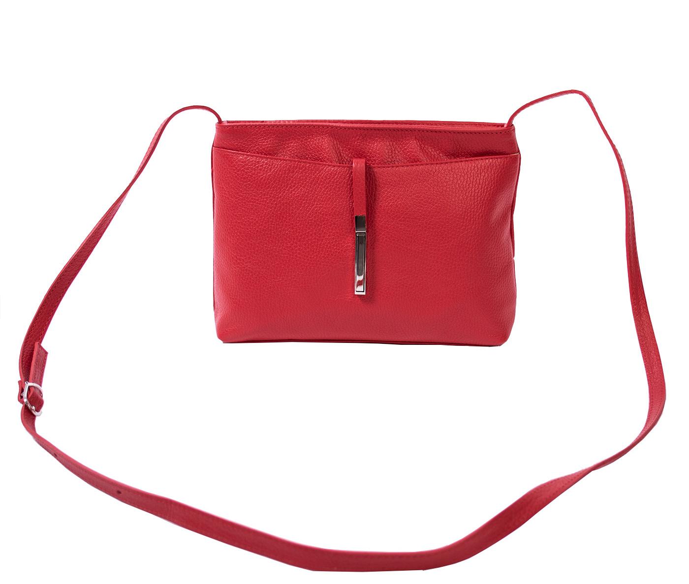 Bags and more Rita Piros Női Bőr Oldaltáska