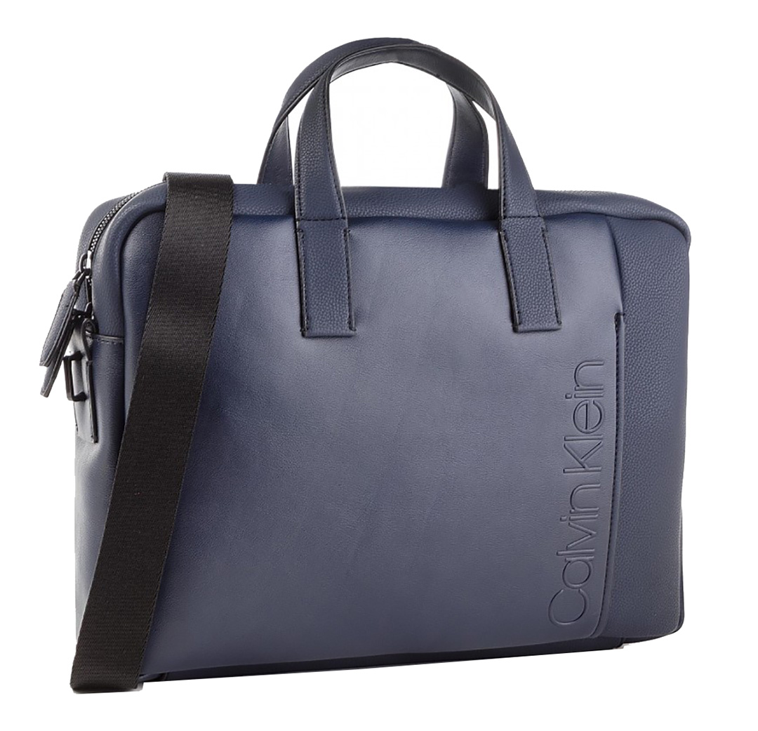 Calvin Klein Elevanted Logo Slim Laptop Bag Kék Férfi Laptoptáska ... 3481940169