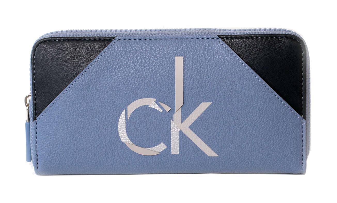Calvin Klein No4h Large Ziparound Kék Női Pénztárca