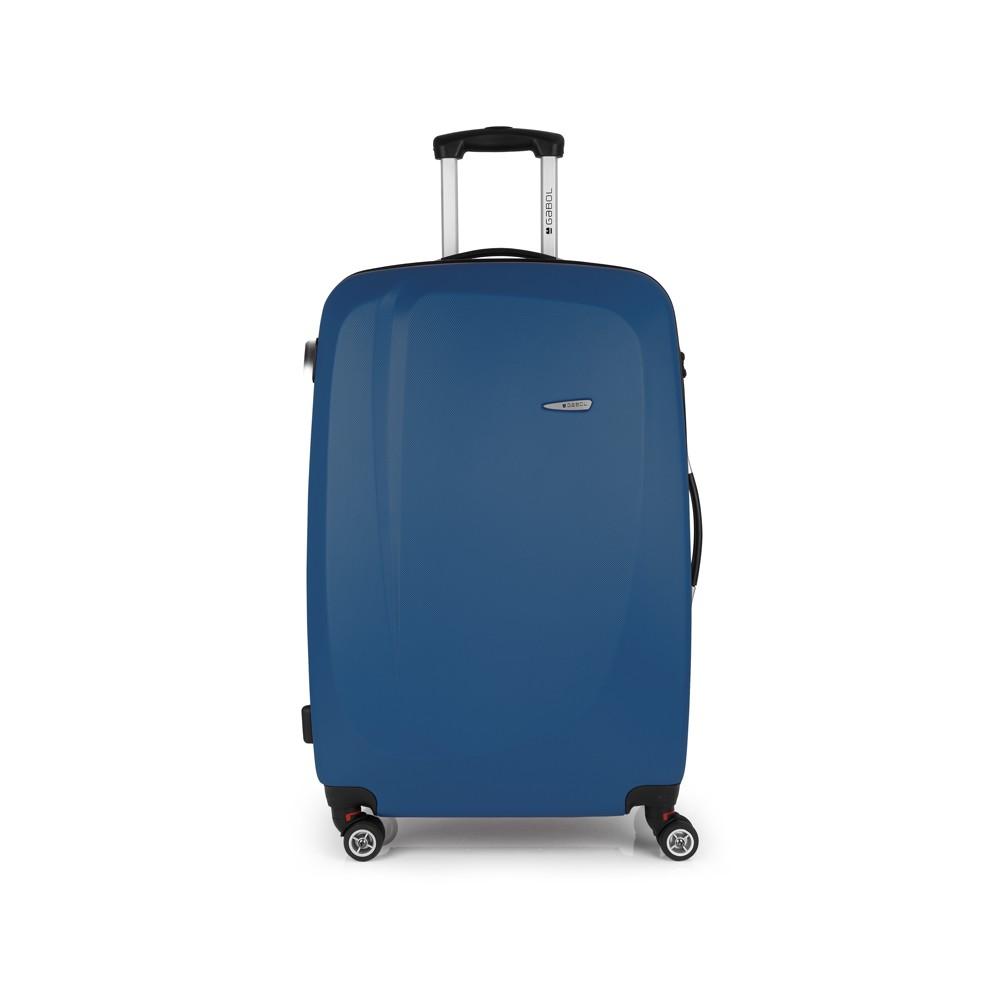 aa7cd18c2257 Gabol Line 76 cm Kék 4 kerekes Bőrönd
