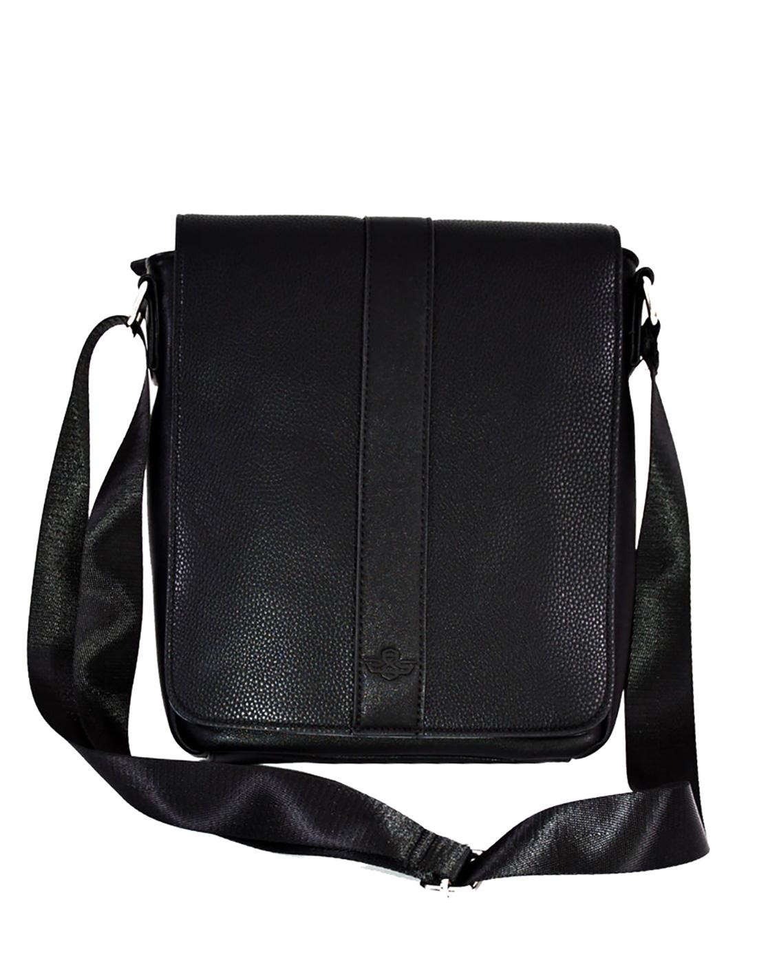 5d35a478697f Saxoo Doncaster Bag Black Fekete Férfi Oldaltáska | bagsnmore.hu