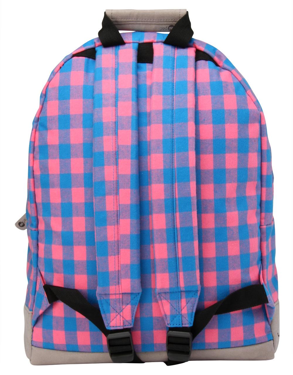 78aa4b2ed64a Mi-Pac Gingham Pink/Blue Kék Női Hátizsák