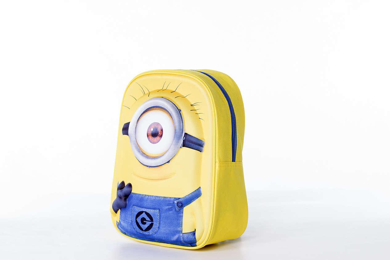 5516aa098a83 Disney Minion Mochila 1Eye 3D Sárga Gyerek Hátizsák