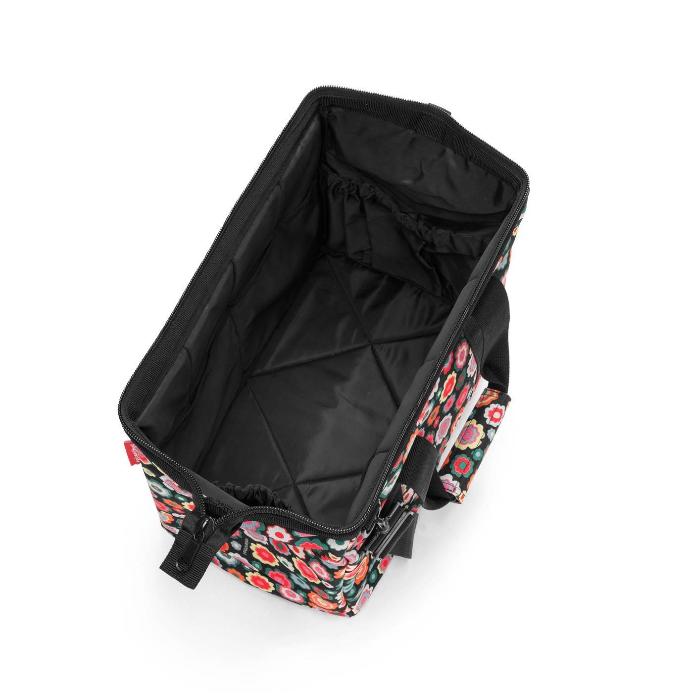 8b5134c6b88f Reisenthel Allrounder M Happy Flowers Fekete-virágos Női Utazótás ...